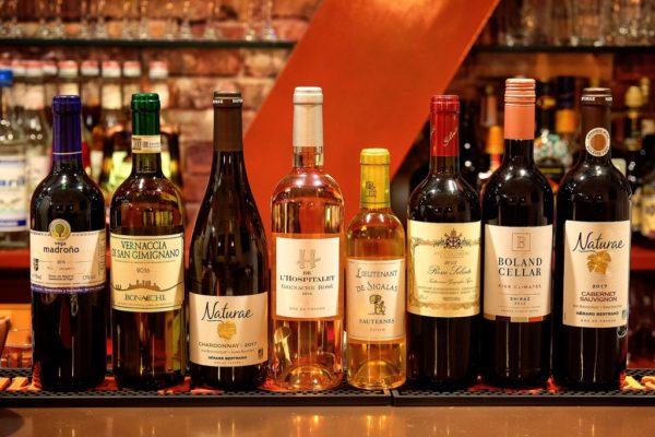 グラスワインが常時8種類~